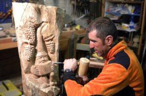 Marco Rolando intaglio legno Ceresole Reale
