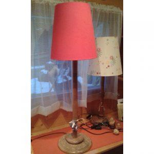 lampada intagliata legno h100
