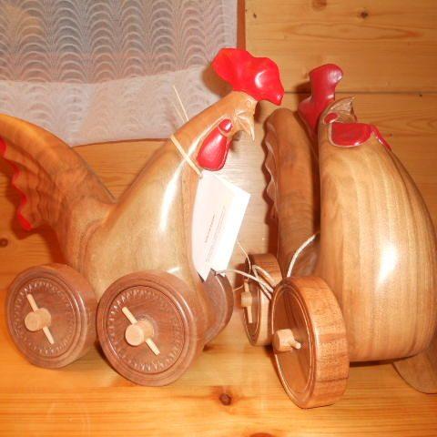galletti legno con ruote