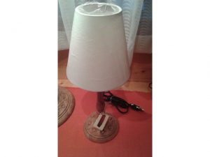 lampada ciliegio antico h45