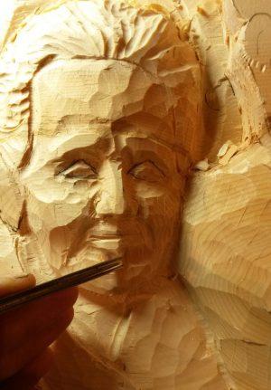 scultura su legno Ceresole Reale - Piemonte