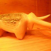 mucca-legno